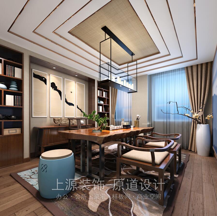 青岛会所装修设计 1000㎡ 新中式风格 上源装饰设计