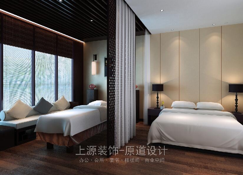 青岛会所装饰设计 1300㎡ 现代中式 上源装饰设计