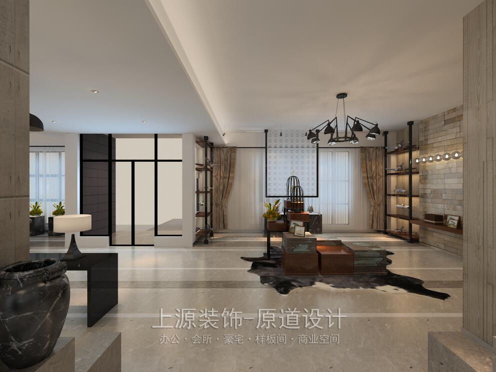 青岛办公楼装修 1200㎡ 现代美式风格 上源装饰设计