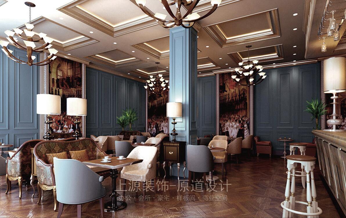 青岛售楼处装修 800㎡ 英伦风格 上源装饰设计