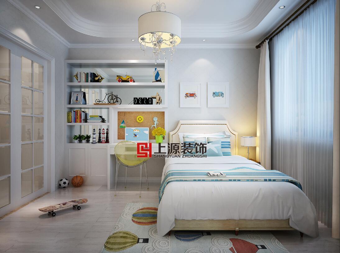 青岛家庭装修设计 150㎡ 美式风格 青岛别墅设计团队