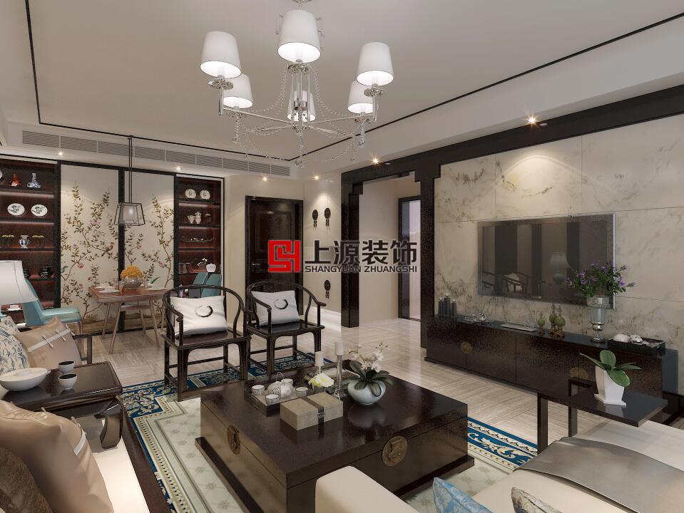 青岛家庭装修设计 145㎡ 新中式风格 青岛装修设计团队