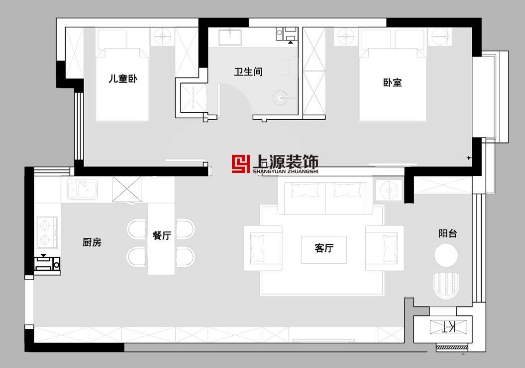 西安家庭装修设计_西安青岛装修设计公司 装修方案_上