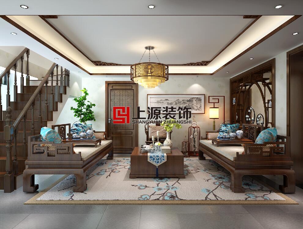 青岛装修 300㎡ 中式风格 青岛别墅设计团队