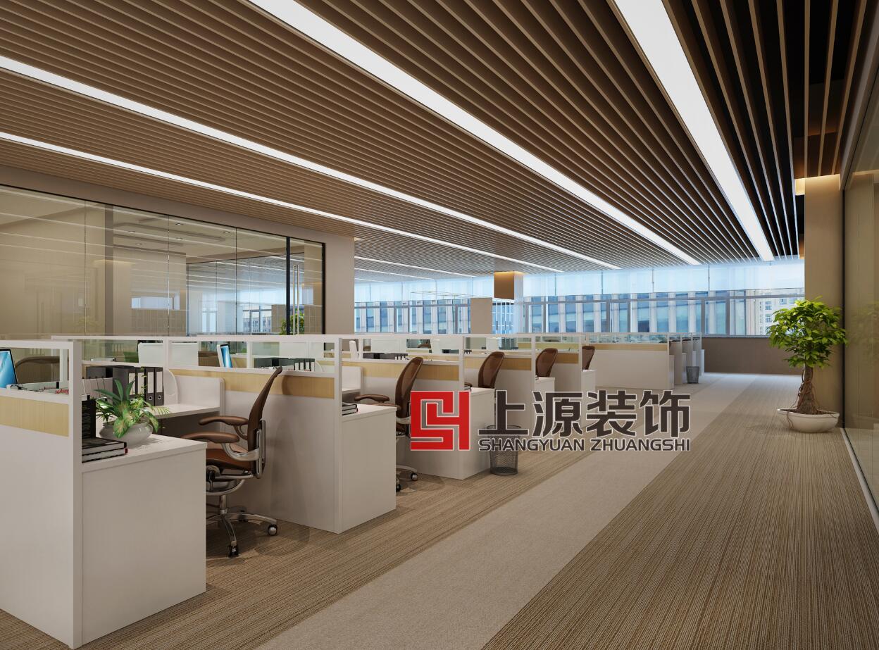 青岛办公室设计 10000㎡ 现代风格 上源装饰设计