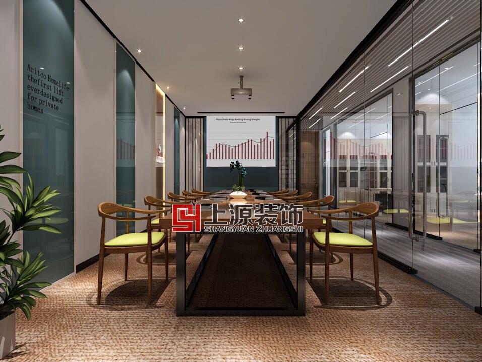 黄岛青岛办公设计 1500㎡ 美式风格 上源装饰设计