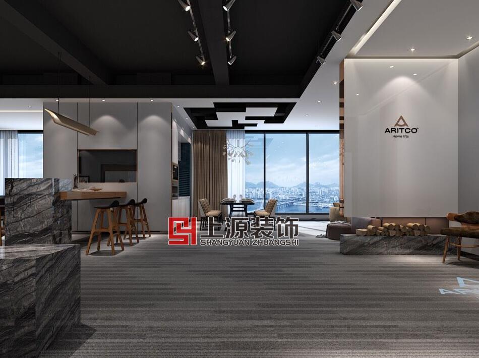 青岛办公设计 1500㎡ 美式风格 上源装饰设计