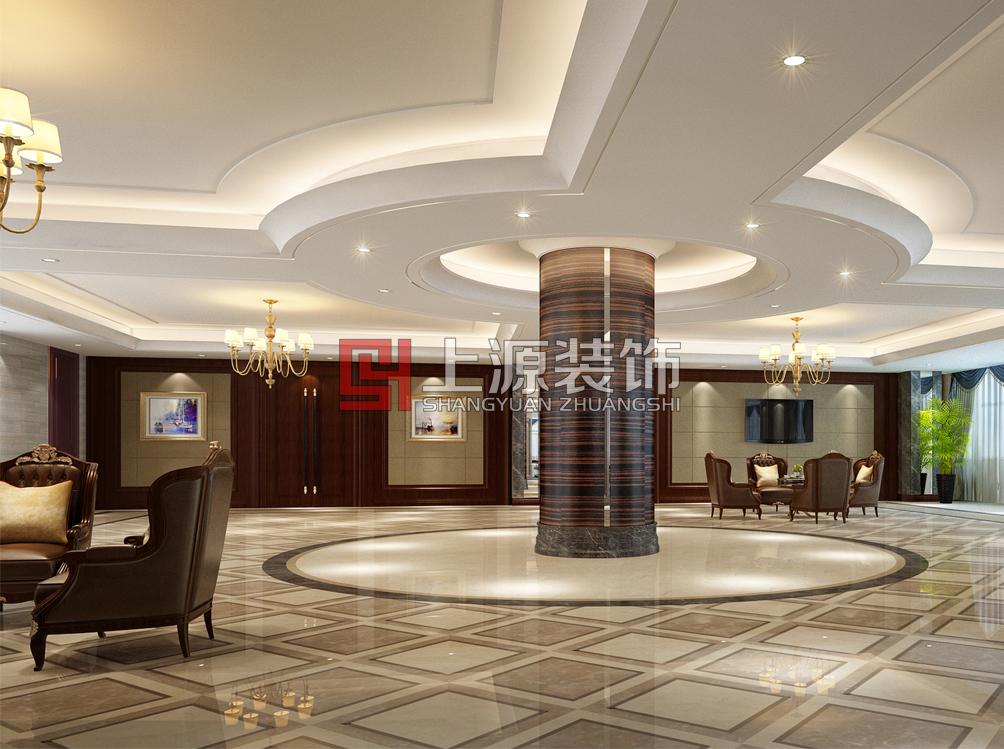 青岛高端会所设计 2000㎡ 现代中式 上源装饰设计
