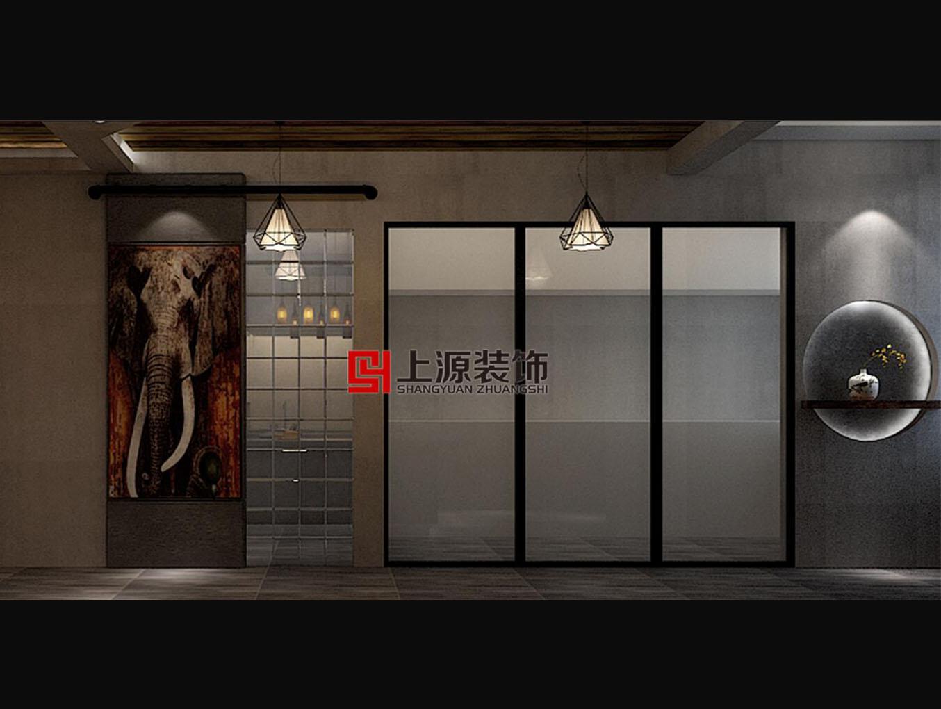 别墅样板间设计 280㎡ 美式工业风格 青岛别墅设计团队