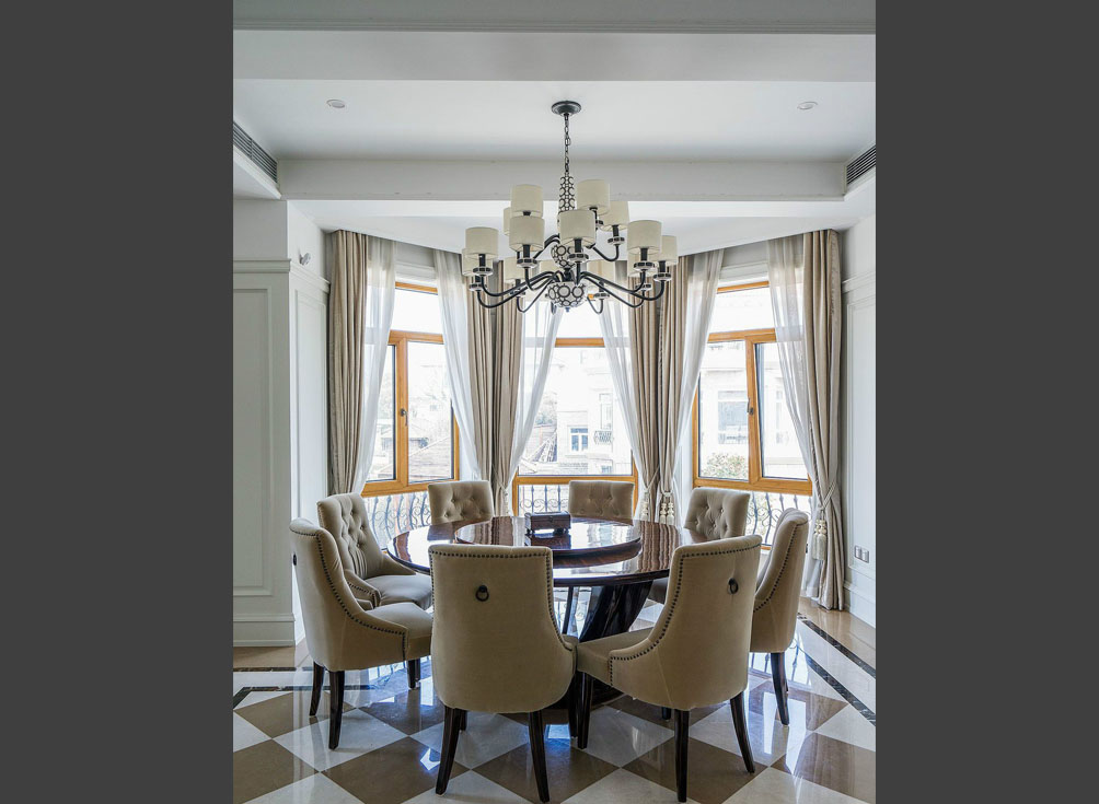 美式别墅装修 480㎡  青岛别墅设计