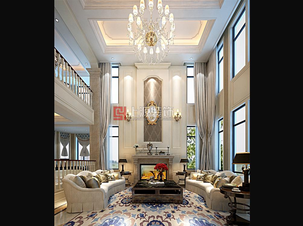 青岛别墅样板间设计 460㎡ 简欧风格 青岛别墅设计