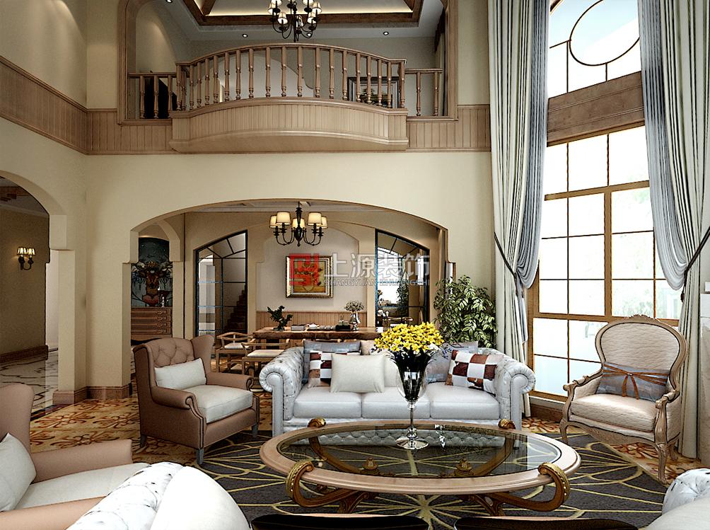 即墨别墅装修设计 480㎡ 美式风格 青岛别墅设计