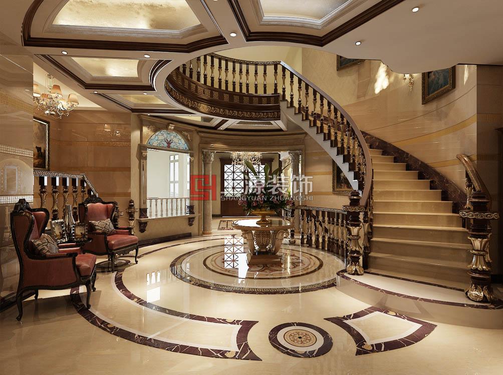 青岛别墅装修设计 750㎡ 古典欧式风格 青岛别墅设计团队