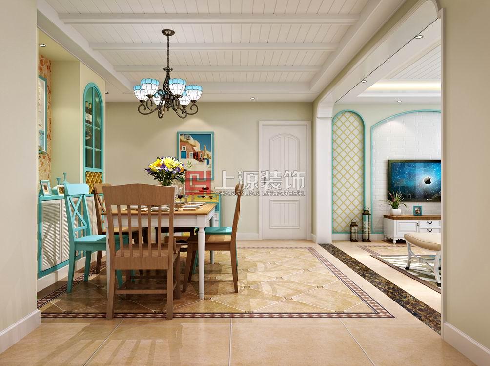 青岛家装设计 160平 地中海风格 青岛装修设计师