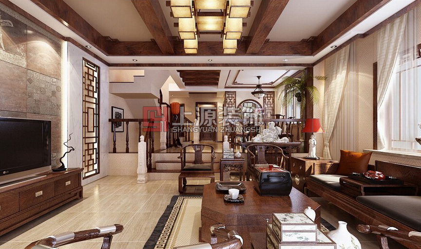中式装修设计  中式风格装修设计 青岛装修设计师