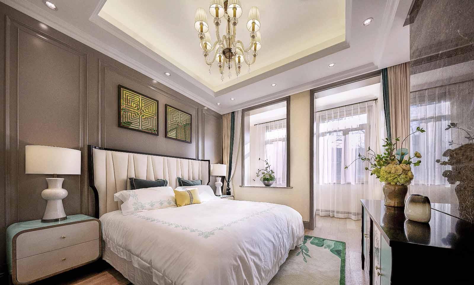 青岛装修设计  联排别墅美式装修风格 青岛装修设计公司