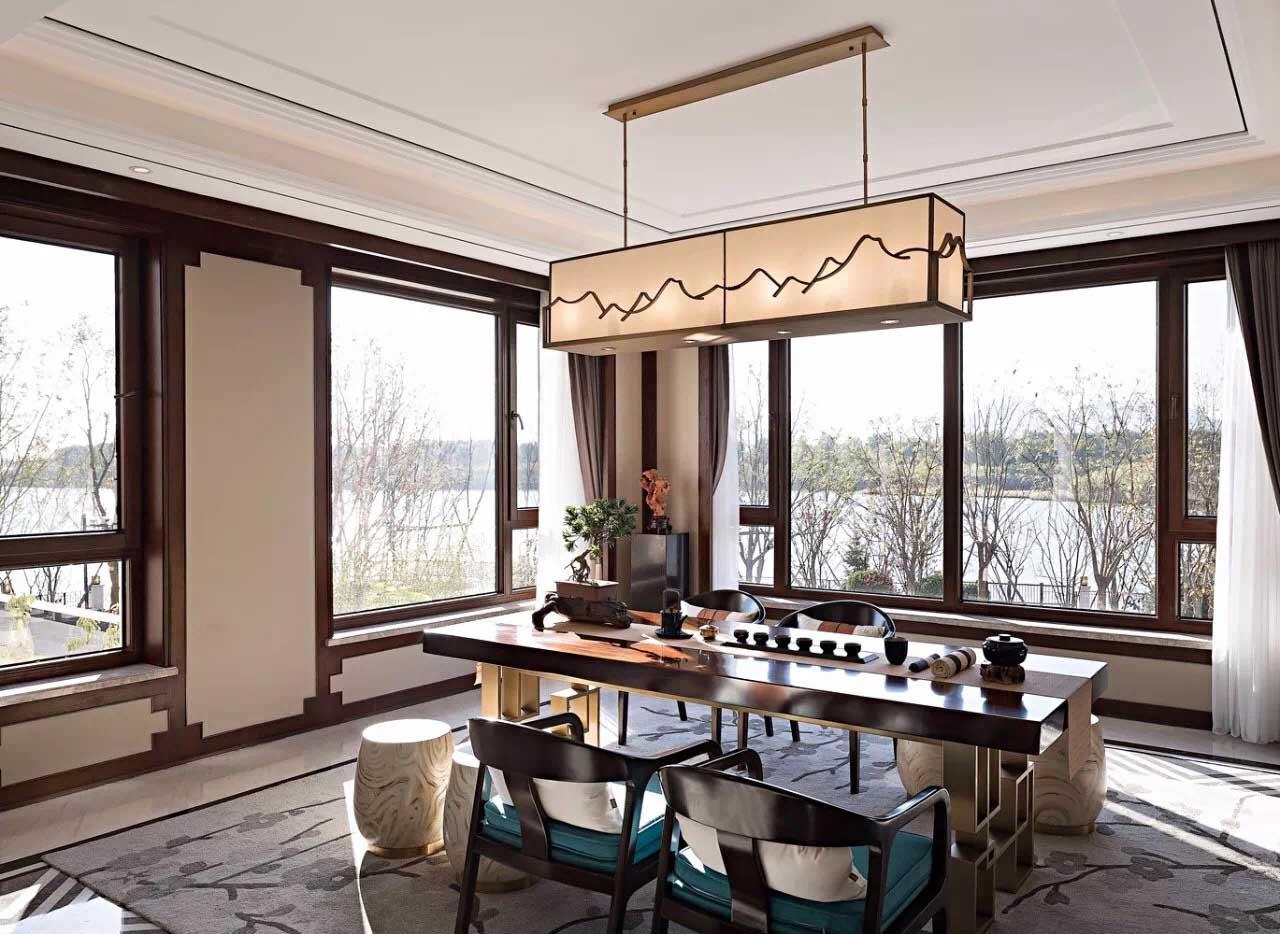 新中式别墅装修 480㎡  青岛别墅设计