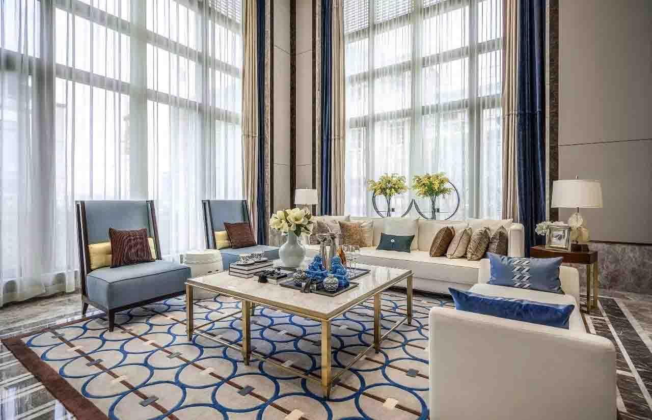 黄岛青岛装修公司 联排大户型 别墅新古典风格装修 青岛装修设计公司