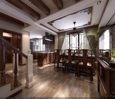 青岛别墅装修设计之有质感的别墅装修