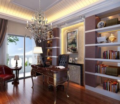 青岛装饰之嵌入式书柜