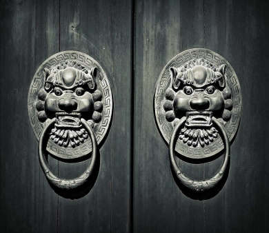 青岛别墅设计 大门的耳环 --- 门环