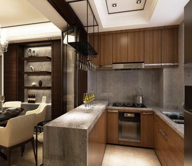 青岛别墅装修 厨房色彩的搭配技巧