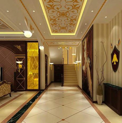 黄岛别墅装修之走廊也这么有讲究图片